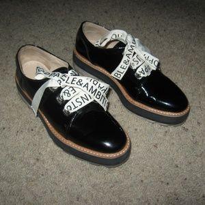 Zara Women chunky Sole Oxfords - Black 36